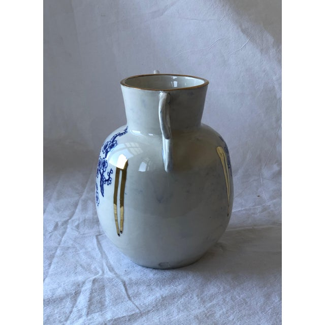 Asian Contemporary Ceramic Chinoiserie Vase For Sale - Image 3 of 6