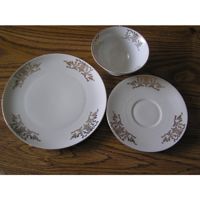 Mid-Century Coffee Cups & Plates - 12 Pieces For Sale - Image 10 of 12