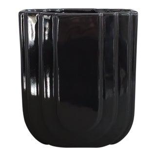 """1980""""s Modern Haeger Black Vase For Sale"""