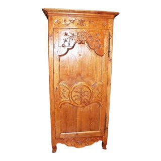 1950s French Country Bontierre Armoire For Sale