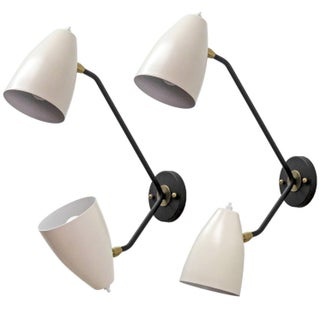 Double Arm Brass Wall Lights 'L3gg' For Sale