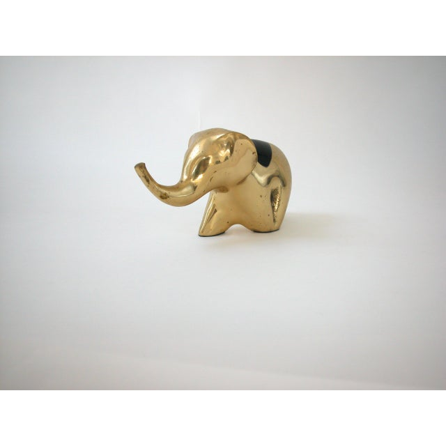 Gold Mid-Century Modern Brass Elephant For Sale - Image 8 of 10