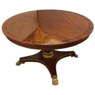 1950s Vintage Circular Kindel Rosewood Banded Center Table For Sale