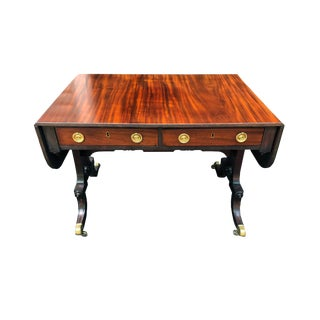 19th C English Regency Style Drop Leaf Sofa Table