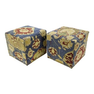 Antique Persian Waterfall Stools, Pair