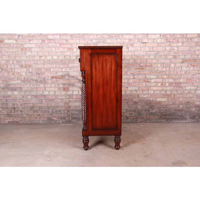 Ralph Lauren for Henredon American Empire Carved Mahogany Highboy Dresser For Sale - Image 11 of 13