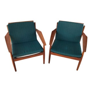 Mid Century Modern Teak Easy Chairs by Arne Vodder for Glostrup Mobelfabrik - a Pair For Sale