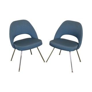 Knoll Saarinen Executive Armless Pair Chairs For Sale