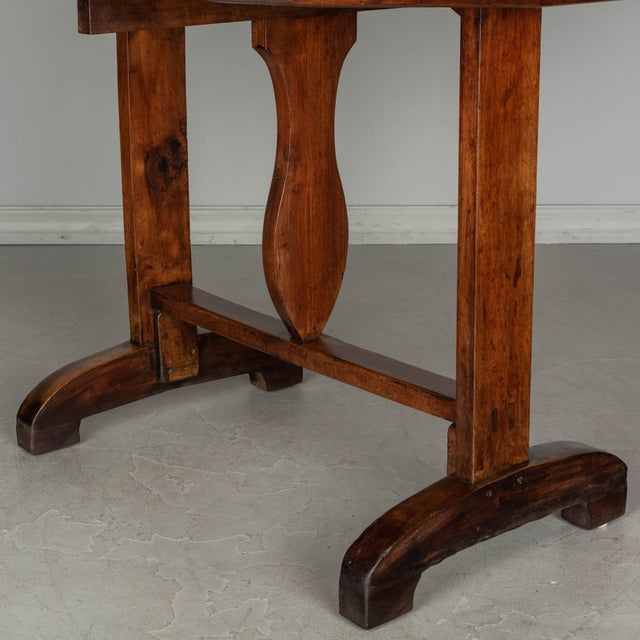 19th C. French Wine Tasting Table or Tilt-Top Table For Sale - Image 10 of 12