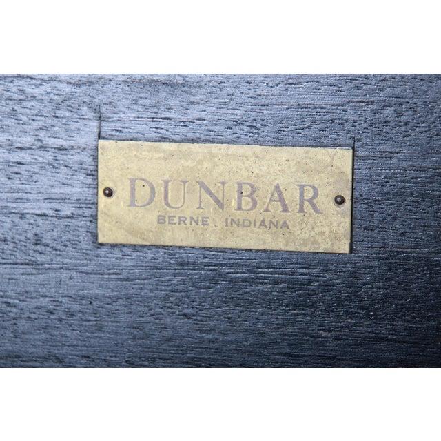 Black Edward Wormley for Dunbar Ebonized Walnut and Brass Coffee Table, Newly Restored For Sale - Image 8 of 9