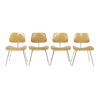 1980s Vintage Herman Miller Eames Dcm Chairs - Set of 4 For Sale