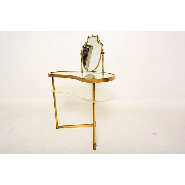 Mid Century Modern Italian Brass Adjustable Vanity For Sale - Image 4 of 10