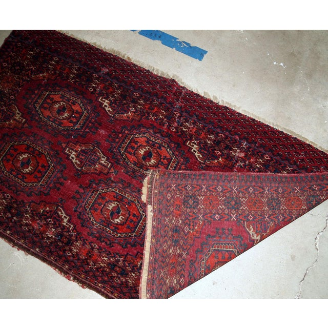 1880s, Handmade Antique Collectible Turkmen Saryk Rug 2.6' X 4.4' For Sale - Image 4 of 6