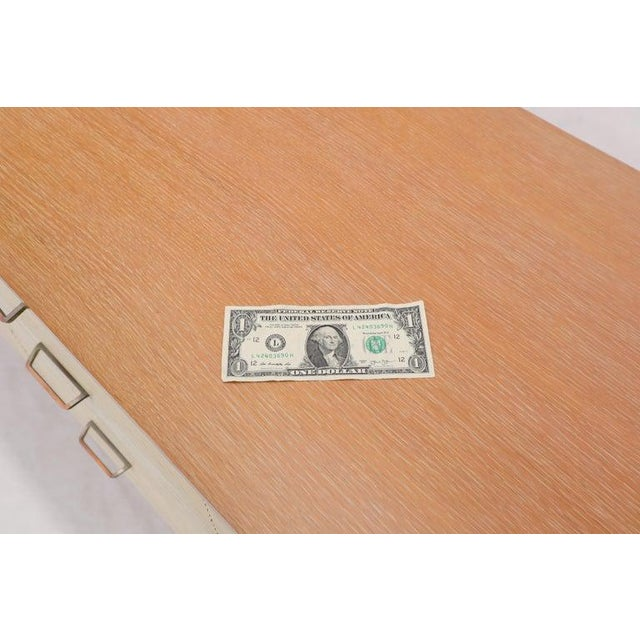 Wood Two Tone Nine Drawer Cerused Oak Long Dresser Credenza by Mengel For Sale - Image 7 of 13