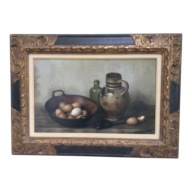 Henk Bos Original Still Life Oil Painting For Sale