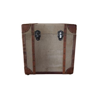 Vintage Canvas and Leather Travel Chest