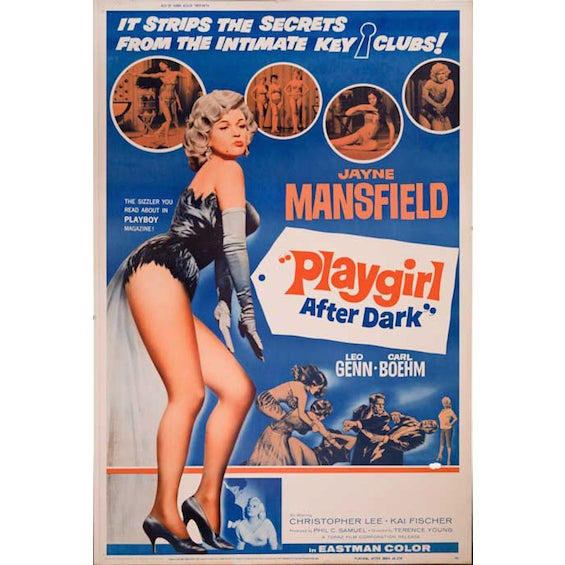 Playgirl After Dark 1962 Giant Movie Poster - Image 1 of 2