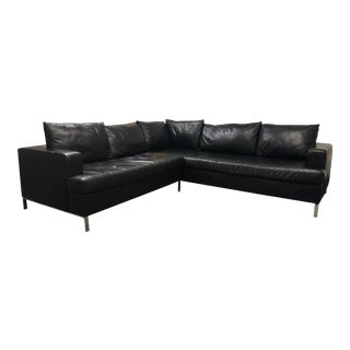 Leather 2pc Lola Sectional For Sale