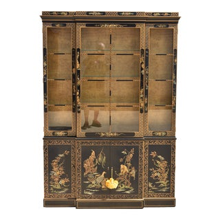 1980s Chinoiserie Drexel Et Cetera Asian China Cabinet For Sale