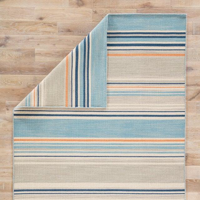 Jaipur Living Amistad Handmade Striped Blue/ Orange Area Rug - 5′ × 8′ For Sale - Image 4 of 6