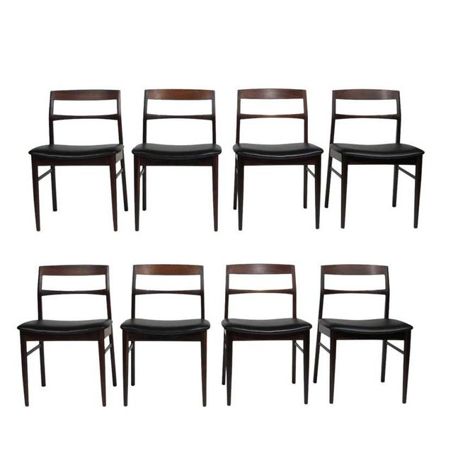 Rare Arne Vodder Solid Rosewood Dining Chairs - Set of 8 For Sale - Image 13 of 13