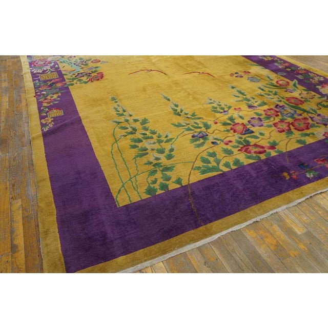 """Art Deco Antique Chinese Art Deco Rug 8'9"""" X 11'4"""" For Sale - Image 3 of 7"""