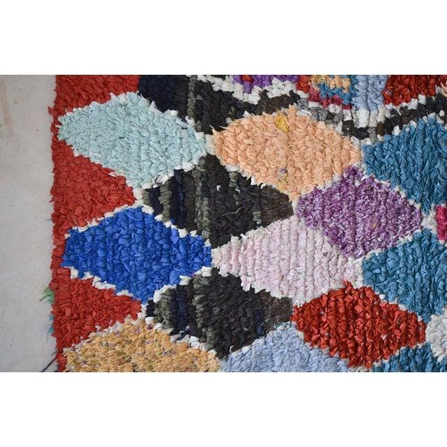 1970s 1970s Vintage Boucherouite Moroccan Wool Rug - 2′10″ × 6′8″ For Sale - Image 5 of 6