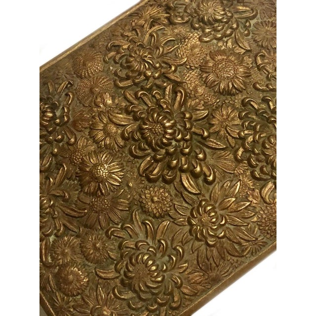 Metal Antique Brass Box Made in France For Sale - Image 7 of 10