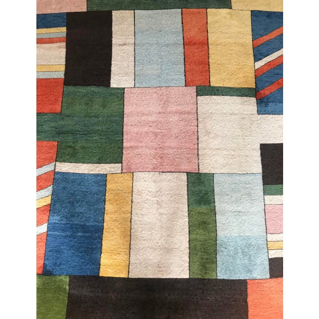 Colorful Turkish Rug, Home Decor, Area Rug 6.6*5.3 Ft. For Sale - Image 11 of 12