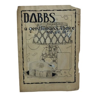 "1924 Vintage ""Dobbs - a Gentleman's Choice Since 1877"" Sign by Thomas Sturges Jr. For Sale"