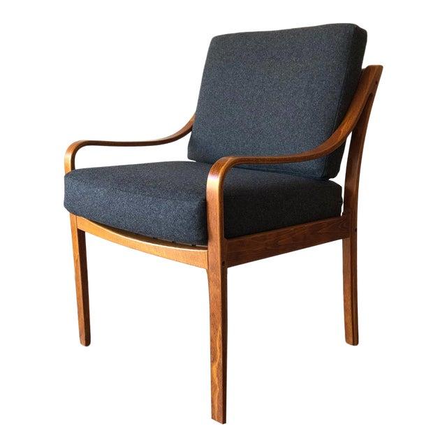 Danish Mid-Century Modern Side Chair by j.m. Birking For Sale