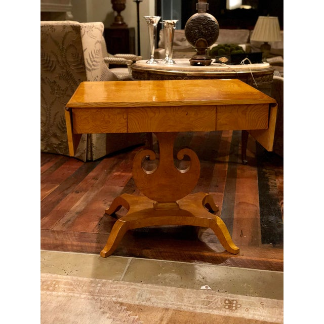 Art Deco Maple Drop-Leaf Table For Sale - Image 10 of 10