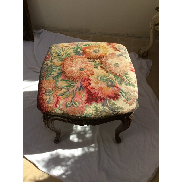 Antique French Tapestry Stool For Sale - Image 9 of 10
