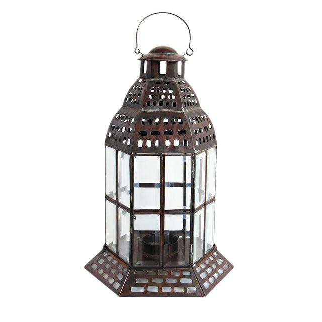 Tin & Glass Window Lantern For Sale