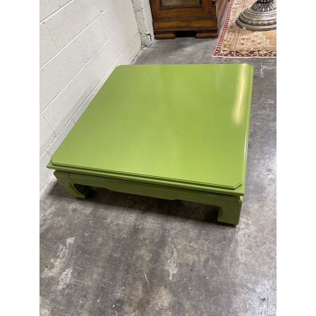 1980s Lacquered Vintage Henredon Ming Table For Sale - Image 5 of 8