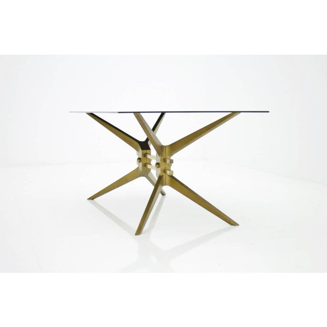 1950s Italian Coffee Table in Brass and Glass, 1950s For Sale - Image 5 of 8
