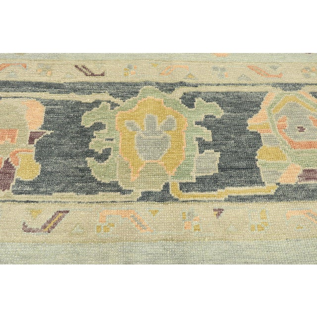 Contemporary Turkish Oushak Rug With Modern Style - 10'03 X 14'02 For Sale - Image 4 of 9