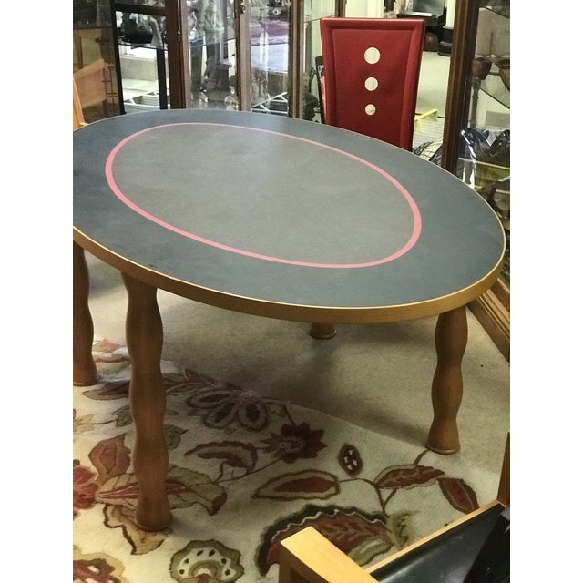 Contemporary Oval Dining Table - Image 4 of 7