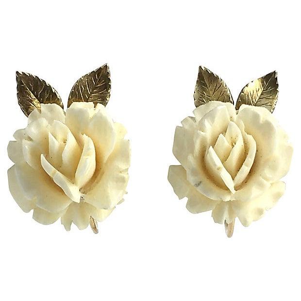 Krementz Rose Earrings, Brooch & Pendant For Sale - Image 4 of 8