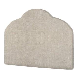 The Crown Headboard - King - Kate - Belgian Linen, Oatmeal For Sale