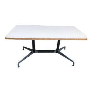 Mid-Century Modern Eames Rectangular Dining Table For Sale