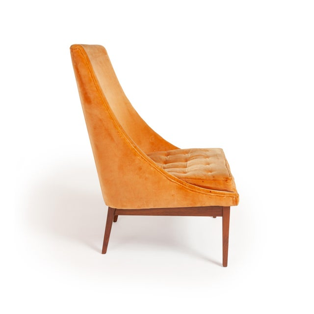 "1950s Vintage Original Lawrence Peabody ""Slipper Chair"" for Richardsons / Nemschoff — Pair For Sale - Image 5 of 12"