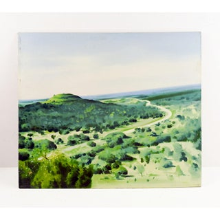 Green Landscape Painting Preview