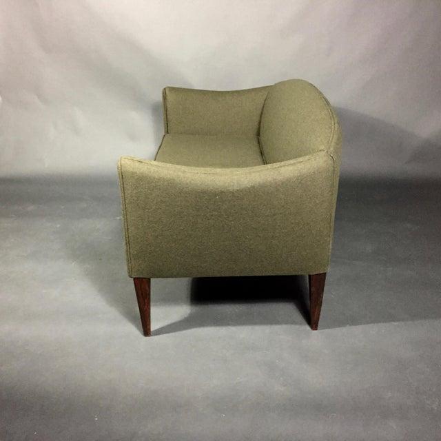 Illum Wikkelsø 2-Seat Wool Sofa, Denmark 1960s For Sale - Image 11 of 12