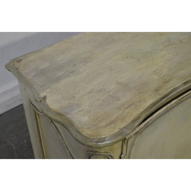 Antique 18th Century French Louis XV Style Painted 2 Door Console Server For Sale - Image 5 of 10