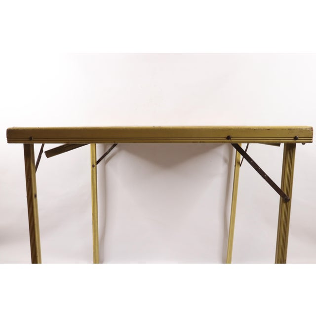 Brown 1950s Vintage Bridge Tables & Novelties M Streckenbach Poppy Flowers Table Stand For Sale - Image 8 of 12