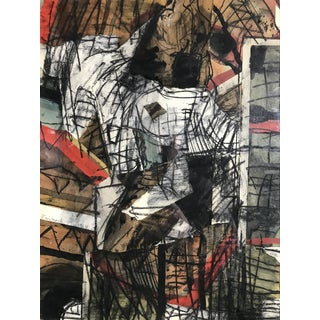Abstract Expressionist Mixed Media Painting Robert Freimark 'Apostle Mark' 1964 For Sale