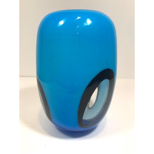 Glass Murano Art Glass Vase For Sale - Image 7 of 8