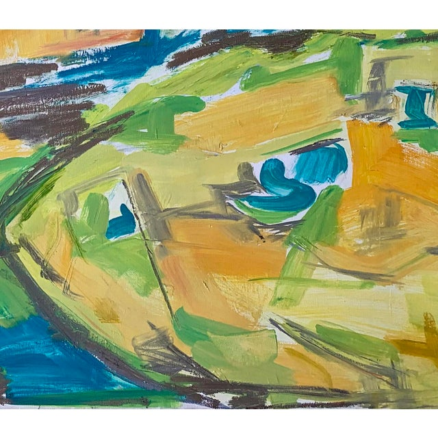 "Postmodern ""Kimberley Gorge"" by Trixie Pitts Abstract Landscape Oil Painting For Sale - Image 3 of 11"