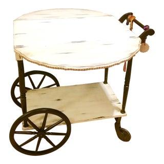 Drop Leaf Top Serving Cart For Sale
